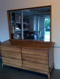 Heywood Wakefield Dresser With Mirror by Haywood Wakefield Mid Century Dresser And Mirror