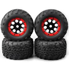 100 Summit Rc Truck 4pcs RC 18 Bigfoot Monster Tires Wheel Rims For TRAXXAS