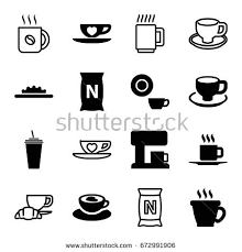 Coffee Icons Set Of 16 Filled And Outline Such As Dish