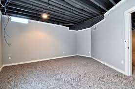 Using A Paint Sprayer For Ceilings by Painting Basement Ceiling Black A Good Move