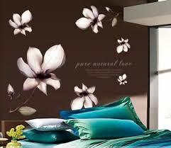 details zu wandtattoo wandsticker wandaufkleber blumen magnolie schlafzimmer 105 1