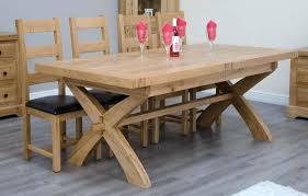 X Leg Dining Table Deluxe Oak Extending Cross Uk White
