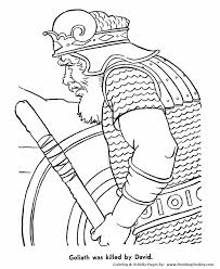 David Killed Goliath And Saved His People Print This Bible Story Coloring Activity Sheet