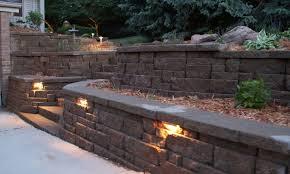 retaining wall lights outdoor new lighting ideas for 8