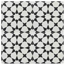 medina handmade cement tiles set of 12 black and white 8 x8