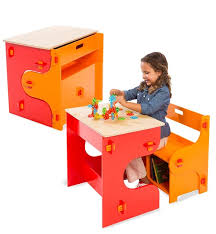 Toddler Art Desk With Storage by Cube Desk Furniture U0026 Storage Hearthsong
