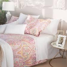 MULTICOLOUR PAISLEY PRINT BED LINEN