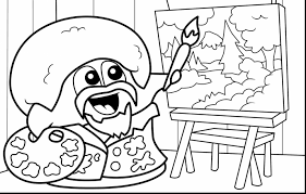 Good Blob Fish Coloring Pages With Video Game And