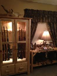 Custom Made Rustic Log Gun Cabinet