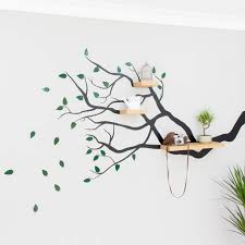 100 Tree Branch Bookshelves Marvellous White Wall Decal Excellent Decorating