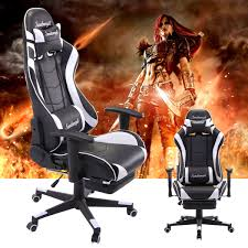 Jaxpety White Racing Chair Ergonomic High Back Office Desk Chair ... Racing Gaming Chair Black And White Moustache Executive Swivel Leather Highback Computer Pc Office The 14 Best Chairs Of 2019 Gear Patrol Pc 2018 Amazon A Full Review 10 Of Ficmax Ergonomic Style Highback Replica Grant Featherston Contour Lounge Chair Ebarza Mdkstorehome Chair Desk Under 200 Rlgear Most Popular Comfortable