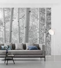 komar vlies fototapete espenwald landschaft wohnzimmer