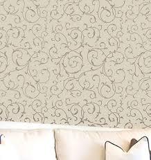 decorative stencils for walls cutting edge stencils scroll allover stencil powder room