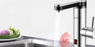 elektrischer wasserhahn mit integriertem durchlauferhitzer