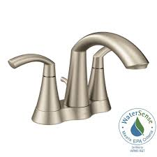 Brushed Nickel Bathroom Faucets Cleaning by Moen Adler 4 In Centerset Single Handle Bathroom Faucet In Spot