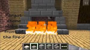 Minecraft Pocket Edition Bathroom Ideas by Minecraft Pe Fireplace Designs Youtube