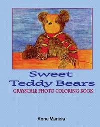 Coloring Book Adults Sweet Teddy Bears Grayscale Photo Digital Download EBOOK Pdf File 24 Pages