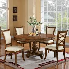 Windward Bay Wood Round Dining Table In Warm Rum