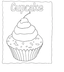 Free Cupcake Coloring Pages For Kids