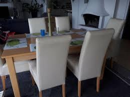 6 stühle hochlehner kunstleder 1 holztisch massiv birne esszimmer