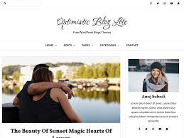 100 Modern Design Blog Optimistic Lite WordPress Theme WordPressorg