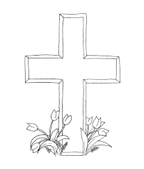 Coloring Pages Cross Printable Inside Easter