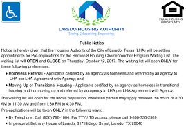 LHA to Open Section 8 Waiting List – October 12