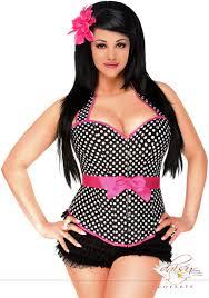 plus size rockabilly belted halter corset
