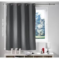 rideau de fenêtre occultant 140 x 180 oeillets gris fr