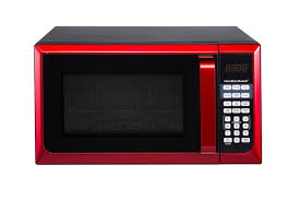 Microwave Oven Red Stainless Steel