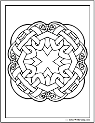 Circles Coloring Pages Geometric Circle Rosette 100 Images