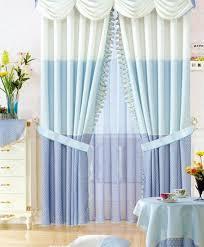 light blue hit color splice living room curtains buy white print