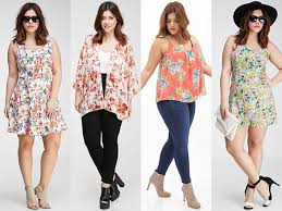 Plus Size Summer Outfit Ideas Floral Dresses Spring 2015