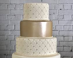 Four Tier Quilted Fondant Wedding Cake Fake Faux