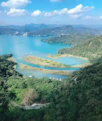 100 Birdview Looking Sun Moon Lake From A Cable Car Taiwan Birdview