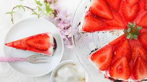 mascarpone frischkäse torte mit erdbeeren