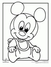 Mickey Mouse Disney Babies Coloring Page