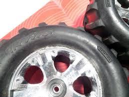 100 Truck Rims 4x4 48 Traxxax Stampede Maxx Tires W 28 Wheels 12mm 4