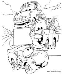 Remember The Movie Cars Coloring This Picture Of Lightning McQueen Tow Mater And Doc Hudson