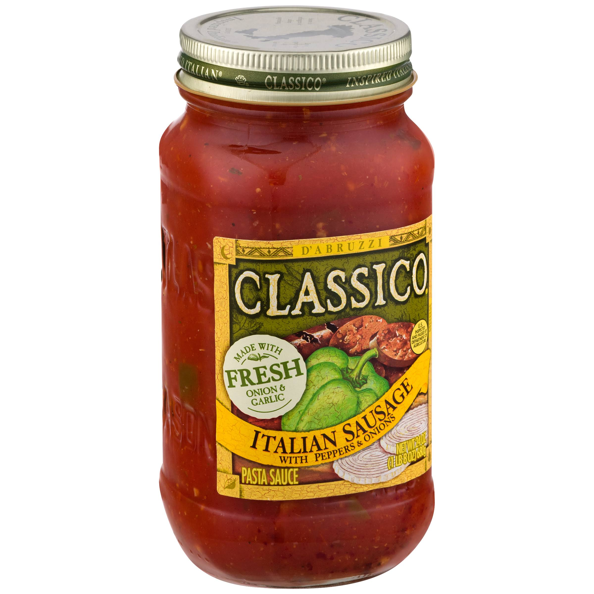 Classico Italian Sausage with Peppers and Onions Pasta Sauce - 24oz