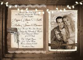 Rustic And Lace Wedding Invitation