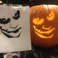 The Joker Pumpkin Stencil by Astounding Image Of Decorative Shape Character 3d Joker Pumpkin