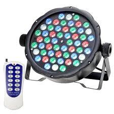 54 Watt Flat Par Can Light 54 LED Lights RGBW Colour Mixing 7