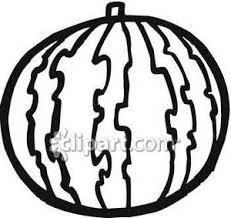Black and White Watermelon Royalty Free Clipart Picture