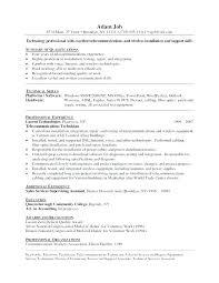 Telecom Technician Resume Configuration Management