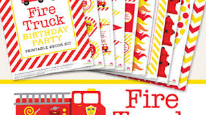 100 Fire Truck Birthday Party Printables Everything You Need In One Kit