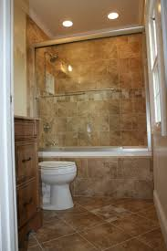 Half Bathroom Ideas Photos by Small Corner White Bathtub And Brown Ceramic Tiled Wall Panel With