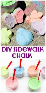This fun DIY Sidewalk Chalk is easy to make and will keep the kids