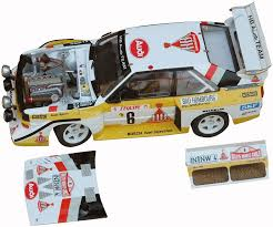 Audi Quattro Sport S1 n°1 & 2 Monte Carlo 1986 1 24 model kit car