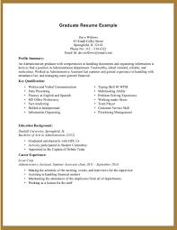 Resume Summary No Experience